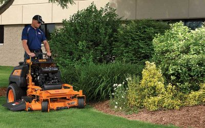 "Why is the 32"" the standout stand-on mower for contractors?"